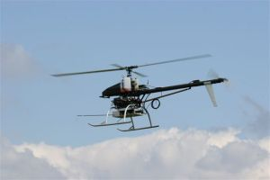 Miniatur helicopter in flight
