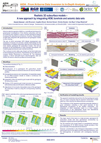 Realistic 3D subsurface models - A new approach by integrating HEM, borehole and seismic data sets